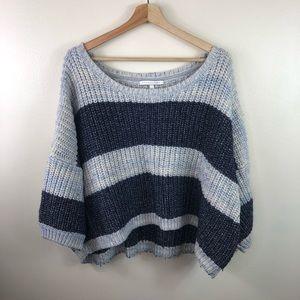 Victoria's Secret wool crop knit sweater size xl